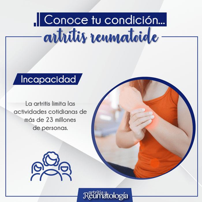 Porque la artritis reumatoide es incapacitante, conoce sobre esta condición