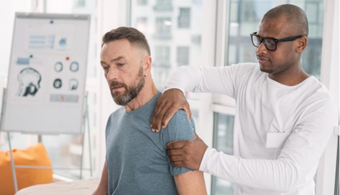 Acciones necesarias para pacientes con hombro doloroso